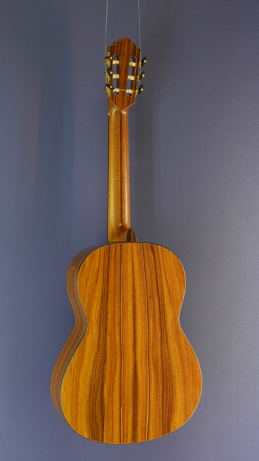 Karl Hofner, classical guitar cedar, Santos rosewood, year 2014, back view<