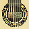 Angelo Vailati, classical guitar, spruce, rosewood, year 2017, rosette, label