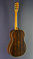 Daniele Chiesa classical guitar spruce, ciricote, scale 65 cm, year 2019, back view