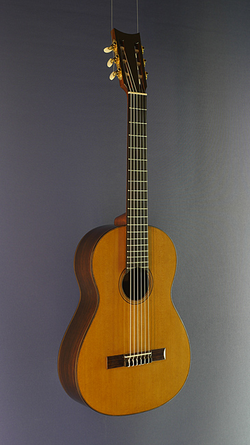 Eugenio Riba, classical guitar, cedar, rosewood, scale 64 cm, year 2016