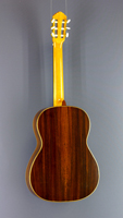 John Ray Luthier guitar spruce, rosewood, scale 64 cm, year 2005, back view