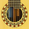 Pete Riddell classical guitar, spruce, cocobolo, scale 64.5 cm, year 2009, rosette, label