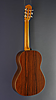 Sascha Nowak double top guitar cedar, Madagascar rosewood, year 2020, back view
