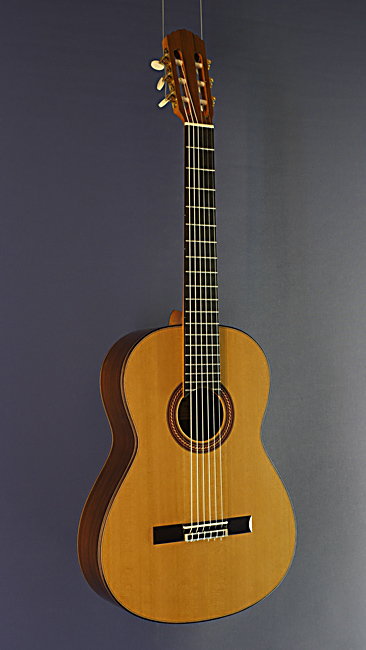 Sascha Nowak double top classical guitar cedar, Madagascar rosewood, year 2020